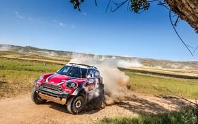 Picture Red, Auto, Mini, Dust, Sport, Machine, Speed, Race, Rally, SUV, Rally, 207, X-Raid Team, MINI …