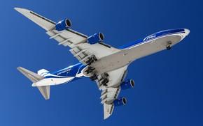 Picture flight, aviation, Boeing 747, a passenger plane
