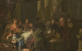 Picture oil, picture, canvas, mythology, The Last Supper, Gerard de Lares