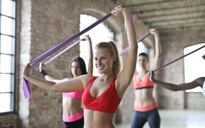 Picture smile, workout, fitness, class