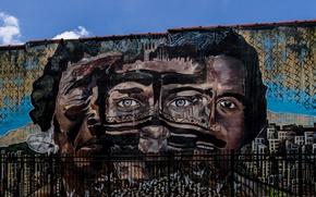 Picture the city, wall, graffiti