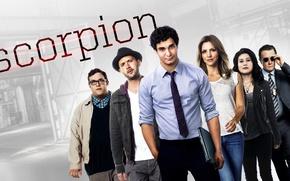 Picture girl, man, Scorpion, cast, tie, tv series