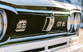 Picture Auto, Machine, Logo, Grille, Nissan, Nissan, Lights, Logo, Car, 2000, Skyline, Nissan Skyline, 2000GT, Japanese, …