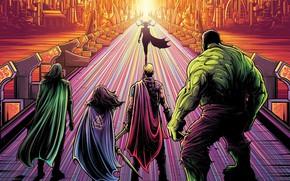 Picture Hulk, Marvel, Thor, Loki, Asgard, Valkiriya, Hela, Thor Ragnarok