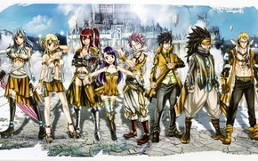 Picture game, gold, anime, pretty, castle, asian, Gray, manga, Wendy, japanese, Fairy Tail, Natsu, oriental, asiatic, …