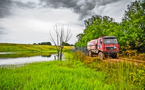 Picture Nature, Lake, Sport, Speed, Race, Trucks, Squirt, Russia, Rally, Rally, 304, MAZ, Silk road, Silk …