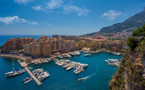 Picture the city, yachts, panorama, Monaco