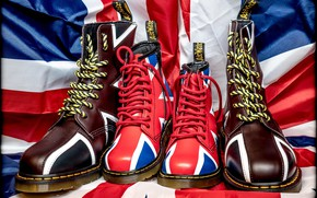Picture style, shoes, flag