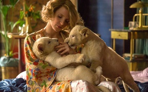 Picture cinema, lion, movie, film, Jessica Chastain, The Zookeeper's Wife
