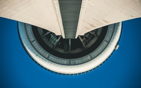 Picture the sky, tower, construction, Canada, Toronto, architecture, Canada, bottom view, Toronto, The CN Tower, CN …