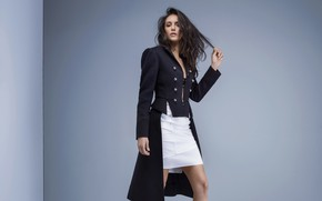 Picture girl, style, background, hair, skirt, beautiful, Nina Dobrev, Nina Dobrev, jacket, photoshoot