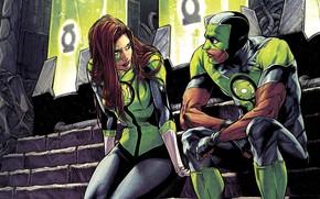 Picture Girl, Costume, Mask, Comic, Green Lantern, DC Comics, Man, Mask, Green lantern, Comics, Costume, Jessica …