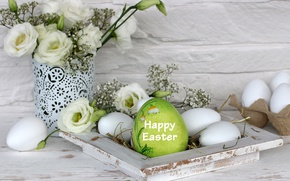 Wallpaper decoration, Easter, pink, Easter, tulips, tulips, happy, the painted eggs, eggs, spring, holiday, flowers, flowers