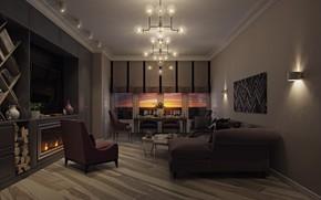 Picture furniture, interior, vase, the room, Living room