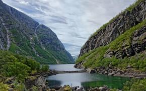 Picture landscape, mountains, nature, lake, beauty