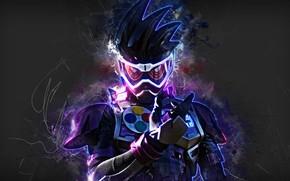 Picture background, colors, mask, man, hair, suit, Kamen Rider