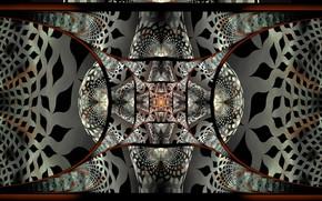 Picture pattern, arc, fractal, dark color