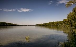 Picture summer, river, sky, Danube River, Danube