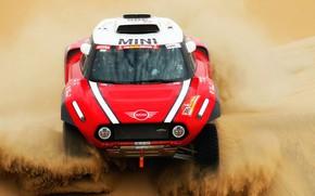 Picture Sand, Red, Mini, Sport, Desert, Lights, Rally, Dakar, Dakar, Rally, The front, Buggy, Buggy, X-Raid …