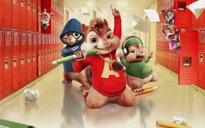 Picture cinema, school, movie, singer, film, animated film, animated movie, Alvin and the Chipmunks