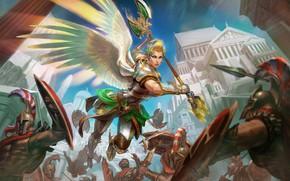 Wallpaper angel, warrior, fighters, girl