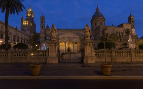 Picture night, Italy, Cathedral, Sicily, Palermo