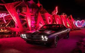 Picture black, Dodge, Challenger, Dodge, Black, Challenger