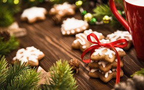Picture spruce, cookies, christmas, winter, treats