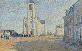 Picture picture, the urban landscape, Henri Lebasque, Henri Lebacq, The Church in the Village