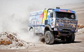 Picture Auto, Dust, Sport, Machine, Master, Kamaz, Rally, Dakar, KAMAZ, 502, Master, Redbull