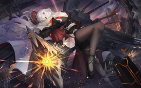 Picture girl, weapons, Pose, Azur Lane