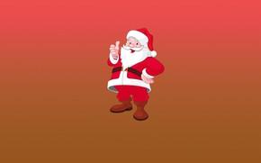 Picture Minimalism, Christmas, Background, New year, Santa, Holiday, Mood