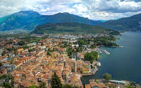 Picture Clouds, Home, Mountains, Panorama, Roof, Italy, Clouds, Italy, Mountains, Italia, Panorama, Lake Garda, Town, Garda, …