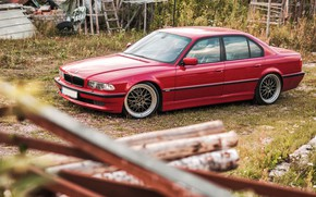 Picture car, bmw, BMW, tuning, e38, stance, 7 series, E38