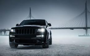 Picture car, machine, auto, city, car, car, srt, cars, auto, bridge, winter, jeep, grand cherokee, jeep …