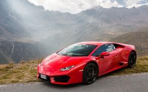 Picture Lamborghini, Red, Huracan, LP580-2