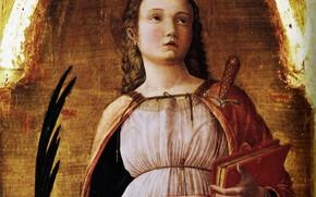 Picture Andrea Mantegna, 1455, detail, Sainte, Justine of Padua