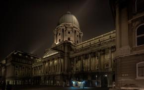 Picture night, Hungary, Budapest, Royal Palace, Buda castle