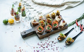 Picture food, canapés, snacks, salads