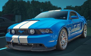 Picture background, Mustang GT, cult car