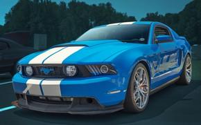 Wallpaper background, cult car, Mustang GT