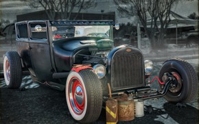Picture retro, classic, hot-rod