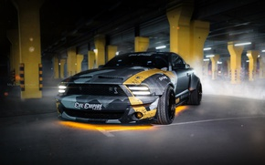 Picture car, machine, auto, city, fog, race, mustang, Mustang, car, sports car, camouflage, car, need for …