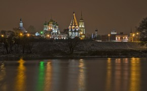 Picture winter, the evening, The city, Kolomna