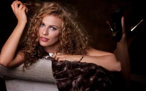 Wallpaper hair, face, curls, curls, look, hands, portrait