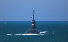Picture sea, black, submarine, Navy, Krasnodar