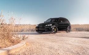 Picture BMW, Sky, Black, Background, X5M, Sight, E70
