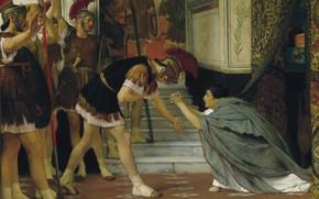 Picture picture, history, genre, Lawrence Alma-Tadema, Lawrence Alma-Tadema, The Proclaiming Claudius Emperor