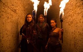 Picture sword, woman, man, ken, blade, tv series, guardian, The Shannara Chronicles