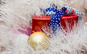 Picture gift, balls, new year